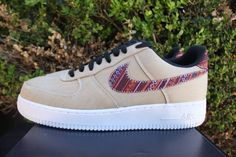 6b7cba17e925 New Nike Air Force 1  07 LV8 Men s Size 9.5 Khaki Black White