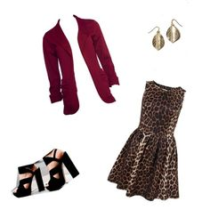 I'm not a huge animal print fan, but that dress is freaking cute! Esp with the rest of the outfit!