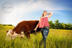 Cowgirl - Cows - Senior Pictures - Cow - Beef Cow - Sunny - Texas - Senior…