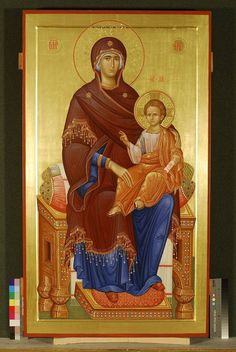 Mother of God Religious Icons, Religious Art, Madonna, Architecture Religieuse, Church Icon, Russian Icons, Love Mom, Orthodox Icons, Angel Art