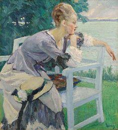 EDWARD CUCUEL, Damenbildnis, 1915/1920