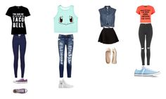 """im lazy so i did this its not a full set but oh well"" by loveforlifeismything on Polyvore featuring Jean-Paul Gaultier, Neil Barrett, Topshop, Current/Elliott, Aéropostale and Converse"