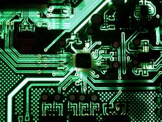 Download Wallpapers Processor Motherboard Neon Lights Modern