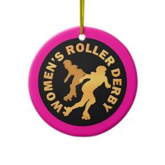 Womens Roller Derby Ornaments