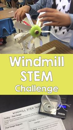 Windmill STEM Challenge Build and test a windmill in this STEM engineering challenge 4th Grade Science, Stem Science, Middle School Science, Middle School Stem, Life Science, Engineering Projects, Stem Projects, Engineering Challenges, Engineering Technology