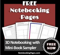 Free Notebooking Pages & Mini-Book Sampler, Coupon, & Prize Giveaway
