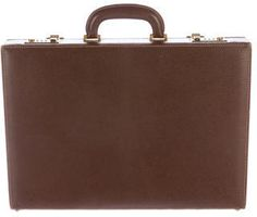 Gucci Leather Lock Briefcase