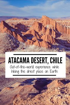 The Atacama Desert in Chile is known to be one of the driest places in the world.  The rugged terrain is often compared to Mars or the moon. Check out what it's like to spend a day at the Valle de la Luna! | www.eatworktravel.com - The luxury, adventure couple!