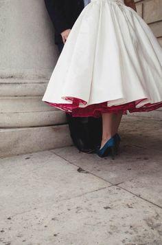 Tea Length Wedding Dresses: Picture Description A Relaxed & Low Key Portrait Session: Leesa-Marie & Stew · British Brides · Wedding · Rock n Roll Vestidos Vintage, Vintage Dresses, Pretty Dresses, Beautiful Dresses, Dresses Dresses, Formal Dresses, Mode Adidas, Low Key Portraits, Look Retro
