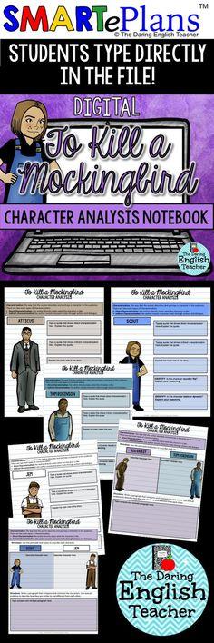 To Kill a Mockingbird Digital Character Analysis   Exercises ...
