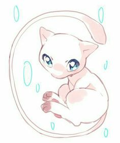 Mew my favourite little pokemon Pokemon Tattoo, Gif Pokemon, Pokemon Fan Art, Pokemon Mewtwo, Pokemon Mignon, Mew And Mewtwo, Cute Pokemon Pictures, Desenho Tattoo, Digimon