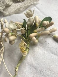 Your place to buy and sell all things handmade List Of Flowers, Wax Flowers, Bride Flowers, Vintage Flowers, Fabric Flowers, Antique Wax, Rare Antique, Corsage Wedding, Wedding Bouquets