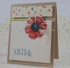 Handmade Greeting Card  Just a Note