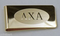 Your Fraternity Brass Greek Letter Money Clip, give to members who pay dues on time!