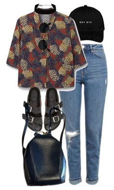 """Untitled #9518"" by nikka-phillips ❤ liked on Polyvore featuring Topshop, MANGO, Isabel Marant and Louis Vuitton"