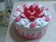 torta fragole in feltro
