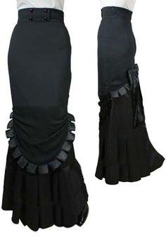 High Waisted Long Skirt by Lia Kell ---Save 37% at ChicStar.com --Coupon: AMBER37