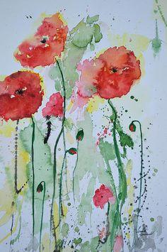 Flower Painting by Ismeta Gruenwald