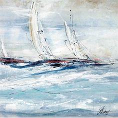 Full Sail I - Nautical Art ~ Clique Interiors
