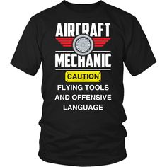 Aircraft Mechanic T-shirt, hoodie and tank top. Mechanic Humor, Funny Gifts, Are You The One, Long Sleeve Shirts, Aircraft, Geek Gadgets, Hoodies, Tank Tops, How To Wear