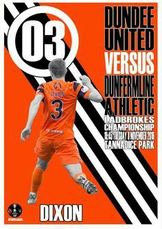 Dundee U. 1 Dunfermline 0 in Nov 2016 at Tannadice. The programme cover #ScotChamp