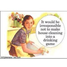 How else do you do housework??!!! :)