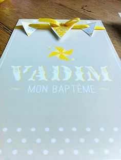 Faire part, carte, invitation, fanions, dentelle