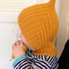 Strik en Pixie-hue Baby Hats Knitting, Knitting For Kids, Baby Knitting Patterns, Baby Patterns, Free Knitting, Knitted Hats, Crochet Baby, Knit Crochet, Sombrero A Crochet