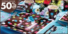 Chocolate & Dots Polka Dot Party Supplies - Party City