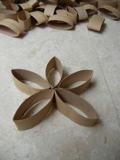 Blumen deko selbermachen-5-Blätter
