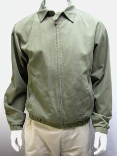 NWT Roundtree & Yorke  Men's Outdoor Lined Jacket Olive Green  Size Small  #RoundtreeYorke #FlightBomber