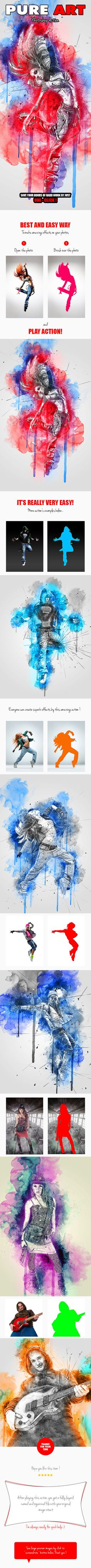 Pure Art Photoshop Action. Download here: https://graphicriver.net/item/pure-art-photoshop-action/17170951?ref=ksioks