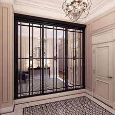 the short list: current cabinetry obsessions — the delight of design black cabinet with mirror and decorative mullion insert Decoration Hall, Tv Decor, Decor Ideas, Kmart Decor, Wall Ideas, Room Ideas, French Pocket Doors, Tiny Powder Rooms, Black Cabinets