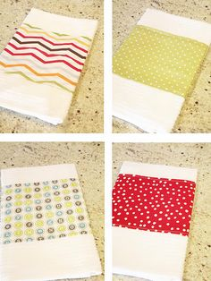 Kitchen towels to match any decor/season.  No more frustration at the limited choices in the stores!