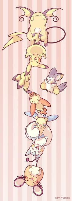 Pikachu Family by SeviYummy.deviantart.com on @DeviantArt