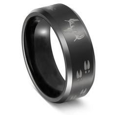 Three Keys Tungsten Ring Black Beveled Edge Skull Deer Antlers Track Men's Hunting Ring Wedding Ring Engagement Band Outdoor Jewelry Size 13 Wedding Ring Styles, Wedding Rings Simple, Custom Wedding Rings, Wedding Ring Bands, Wedding Ideas, Wedding Venues, Wedding Planning, Skull Wedding Ring, Skull Engagement Ring