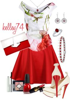 """""""Ravishing Red"""" by kelley74 ❤ liked on Polyvore"""