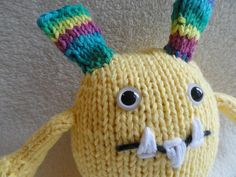 Knit monster toy