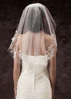 accessories, veils, lace, tulle, shoulder length