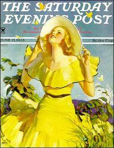 Andrew Loomis - The Saturday Evening Post Magazine cover (June 15, 1935)