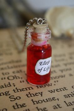 Harry Potter Potion  Elixir of Life Vial Necklace by spacepearls, $14.00