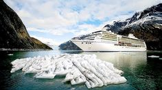 Alaska is one of the best places in the world to see by cruise ship. Pictured: the Seven Seas Mariner.