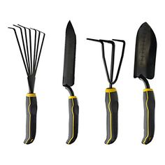 Stanley 4piece Black Yellow Garden Digging Kit ** Find out more about the great product at the image link.