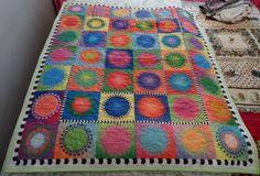 Childrens Baby Cot Quilt  Handmade in Australia  by Fiberartplus, $25.00
