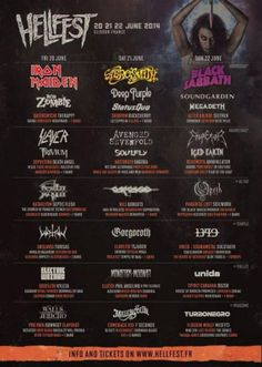 France Hellfest 2014: This is not okay! Super duper jealous of everyone attending.!!