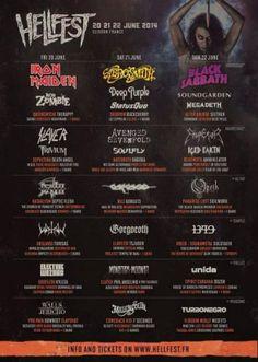 hellfest à clisson FRANCE  du 20 au 22 juin 2014