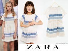 ZARA Kids Striped flounce dress Informations About The Spanish royal family visit Can Prunera Museum Prada, Princess Of Spain, Spanish Royal Family, Zara Kids, Queen Letizia, Fasion, Womens Fashion, Ladies Fashion, Daughter