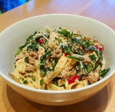 """@tendergreenskingst: """"#tgkingst Tonight we have fresh housemade fettuccine and sausage pasta in a creamy garlic sauce with spinach and Parmesan cheese. Oh my yes! #soma #sf #eatstagram #yumstagram #fresh #sfwine #decadent #eatfresh #homesweethome #california #farmtofork #farmtotable #local #goodeats #foodie #grubbin #yelp"""""""