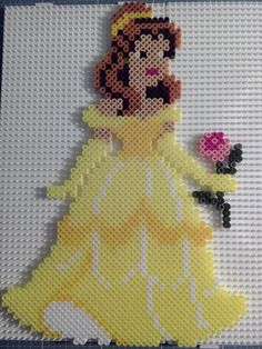 Disney Belle (Beauty and the Beast) hama perler beads by Angelika Witt