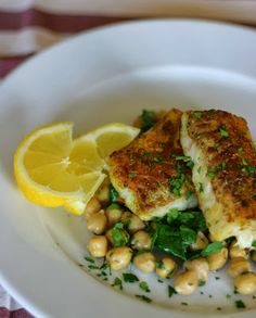 Marias Salt og Søtt: Karristekt torsk med kikerter og spinat
